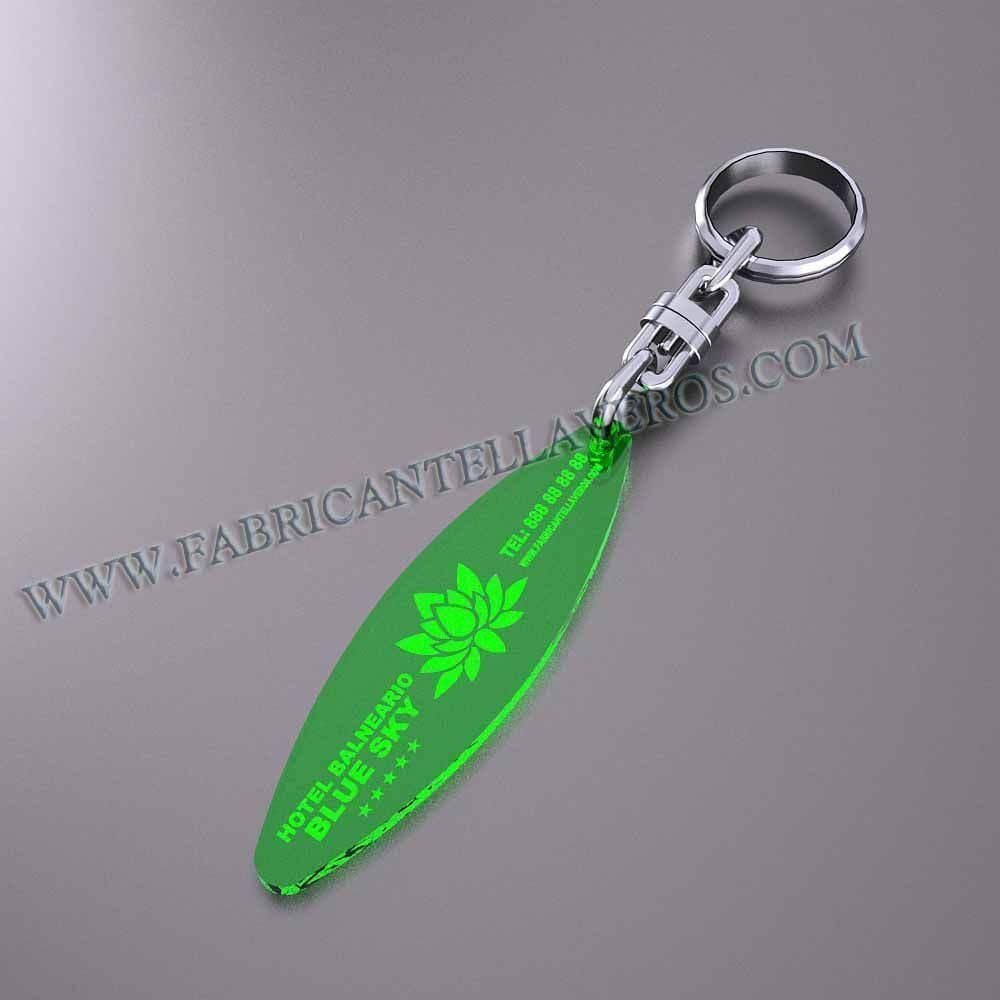 llaveros personalizados verdes baratos elipse