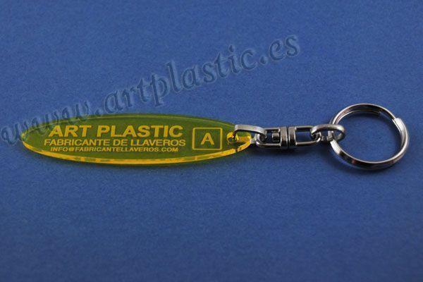llavero personalizado para empresas elipse amarillo llaveros baratos