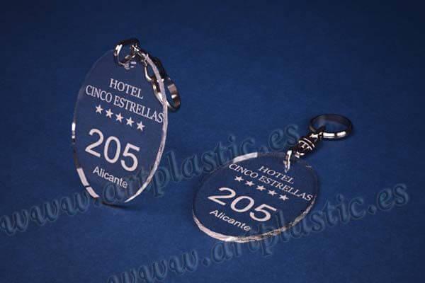 llaveros personalizados baratos ovalados 3mmM
