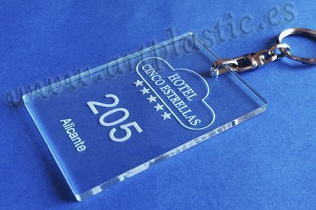 Llaveros Personalizados Transparente para Hoteles